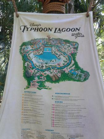 Map of the park - Picture of Disney\'s Typhoon Lagoon Water Park ...