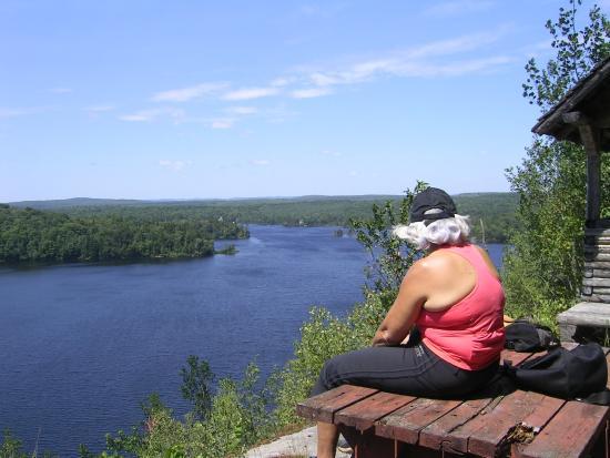 Saint-Ubalde, Canada: Sentier du Belvedère Lac Carillon St-Ubalde