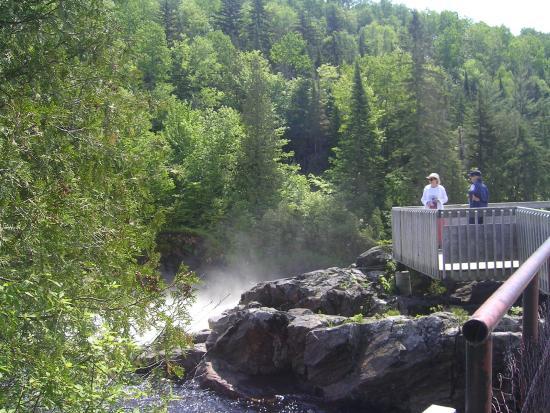 Saint-Ubalde, Canada: Passerelle rivières Batiscan