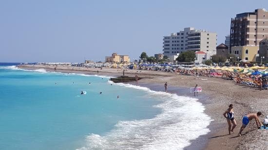 Sirene Beach Hotel Strandpromenaden In Till Rhodos Stad Ca  Km Fran Hotellet