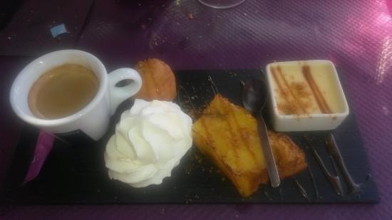 La Louisiane : Café Gourmand ( la brioche au chocolat, un régal)