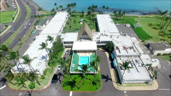 Drone Photo Of Maui Beach Hotel Street Side View