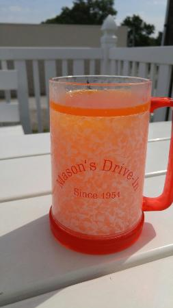 Mason's Root Beer Drive-In: Frosted mug!