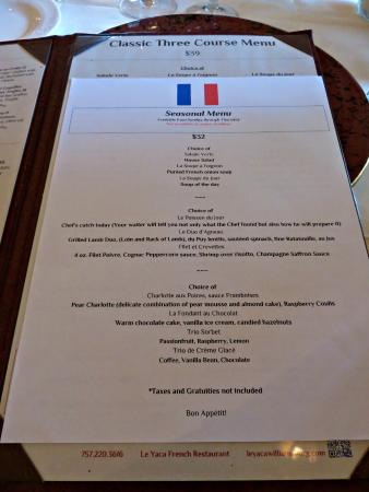 Madison Restaurant Menu Prix