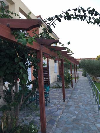 Panorama Village: patio in front of apartment