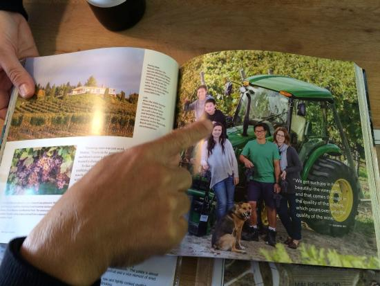 Naramata, Canada: Family Picture in a book!