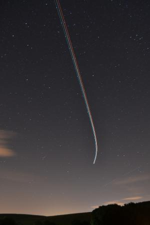 Shallow Grange Farm Campsite : night time flight path
