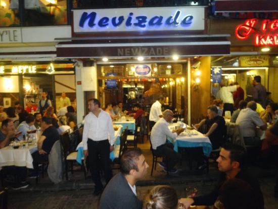Nevizade Restaurant: The restaurant front on Nevizade Sok.