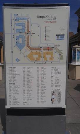 Tanger outlet map Picture of Tanger Outlets Myrtle Beach Hwy 501
