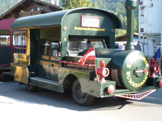 "Niederau, Austria: The ""train"" at work"