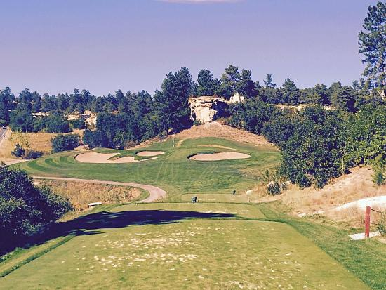 The Ridge at Castle Pines North : #18 tee