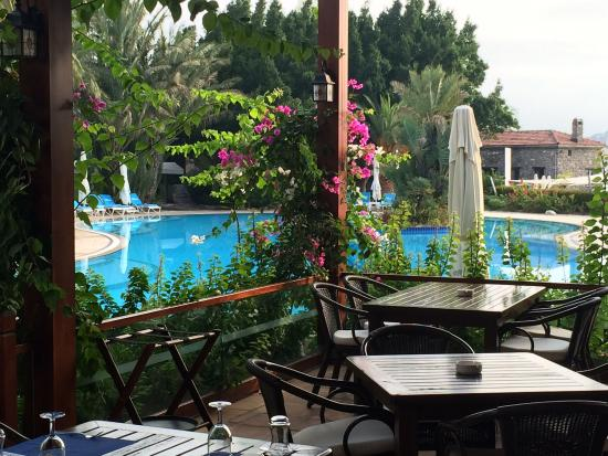 Divan Bodrum : View from the beach and the breakfast area