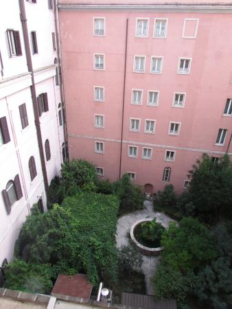 View of the courtyard from the hotel room