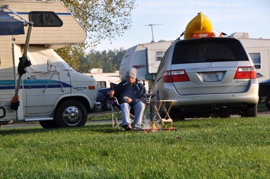 River Bend RV Resort : sites are packed together
