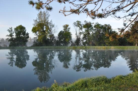River Bend RV Resort: fishing pond