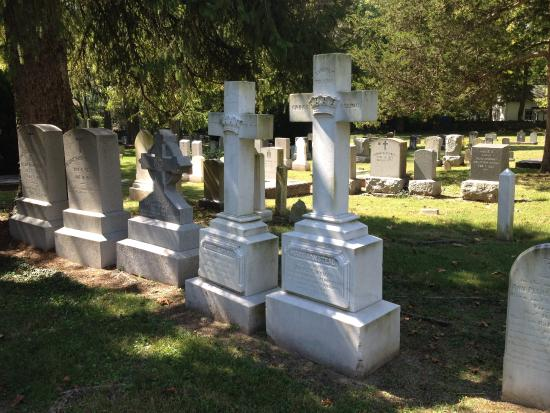 Boyce, VA: Family plot marked with monuments in the form of crosses
