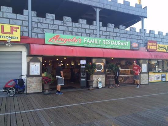 Angelo S Family Restaurant Pizza Place On Ocean City Boardwalk