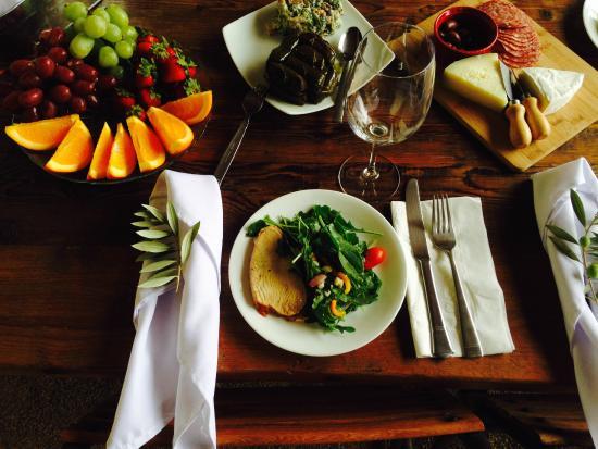 Solvang, Kalifornien: Gourmet lunch prepared by Sveta