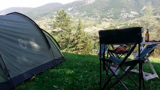 Camping Le Foci: Visuale dalla nostra piazzola