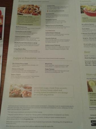 olive garden - Olive Garden Menu Prices