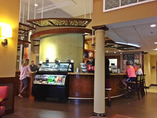 Hyatt Place Dallas / Park Central: Hyatt Place - Innovative Check-In Desk/Food-Bar Kiosk