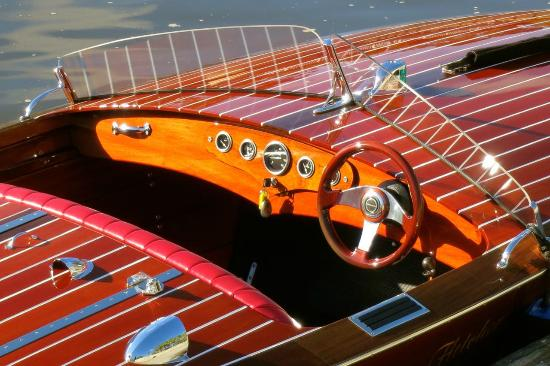 Noosa Dreamboats Classic Boat Cruises: Noosa Dream is hand crafted in mahogany