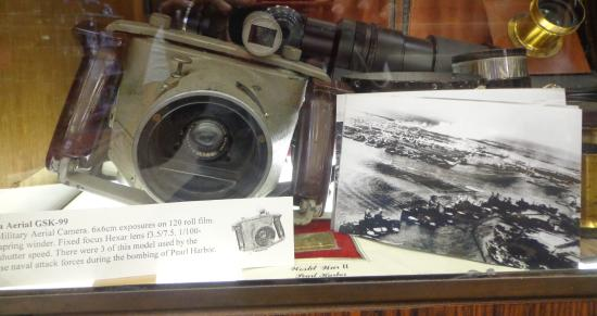 Staunton, VA: Camera used by Japanese to record the bombing of Pearl Harbor