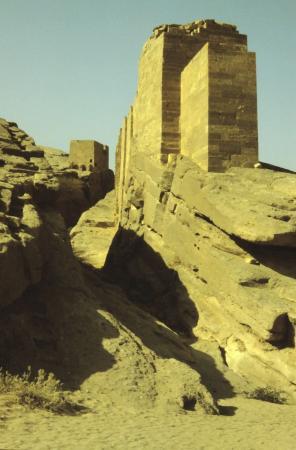 Marib, Yemen: Reste der Staumauer