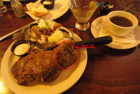 The Montana Club Restaurant - Butte: Fat persentage?