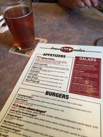 Brewsky's Broiler: Owyhee Amber Ale and Brewski menu