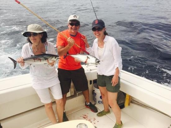 Double bonita strike! - Picture of Palm Beach Fishing Co
