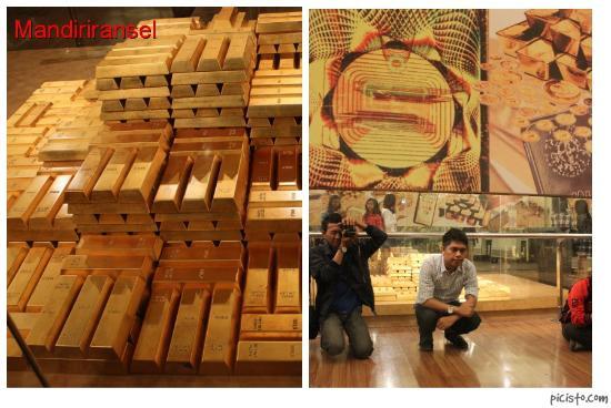 Ruangan Emas Batangan Picture Of Museum Bank Indonesia Jakarta