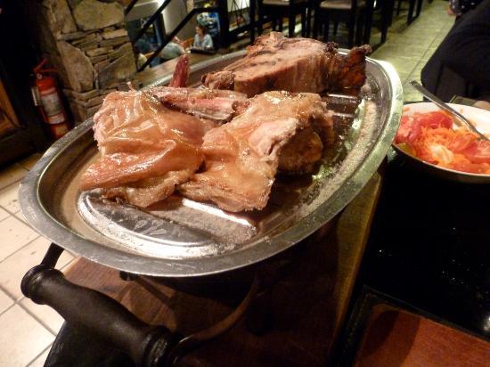 Entre Negros - Carnes Asadas : dos porciones de carne