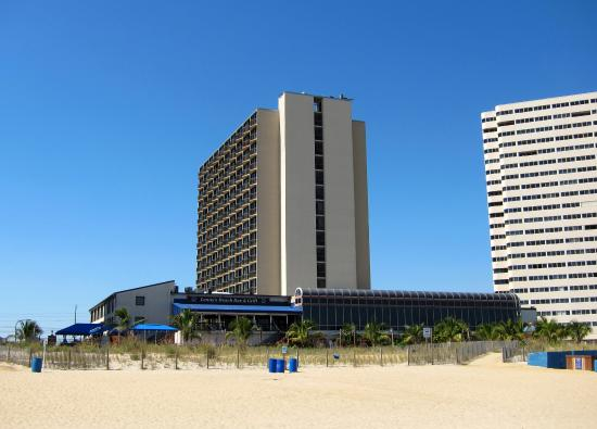 Clarion Resort Fontainebleau Hotel: view of the hotel from the beach