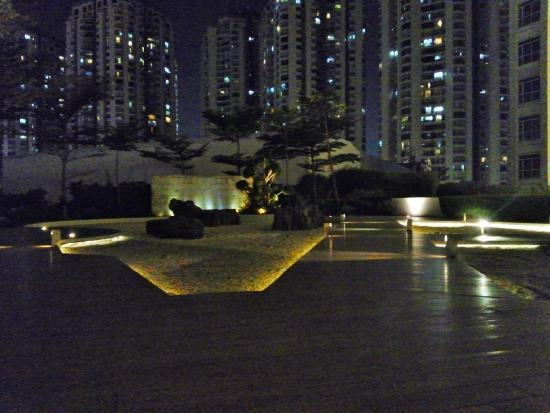 Zen garden at night picture of pullman jakarta central - Pullman central park swimming pool ...
