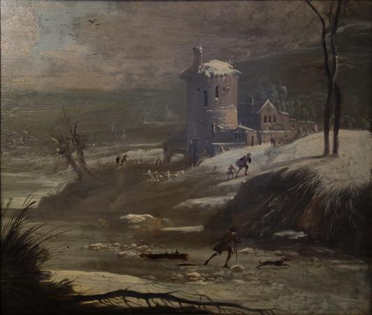 Sorø Kunstmuseum : Peter Cramer: Winter Landscape with Skater