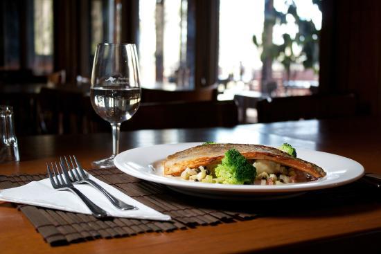 Eaglereach Wilderness Resort: Superb bistro food