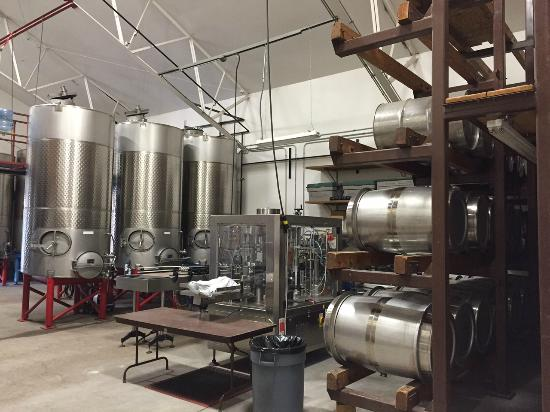 Palisade, CO: Wine mixing & storage room