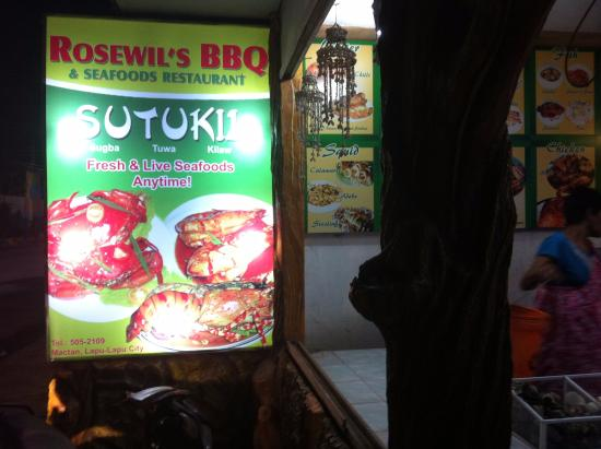 Rosewil's BBQ Seafood Haus: Main signboard facing the road