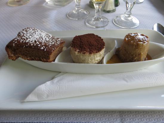 Calacuccia, Fransa: Trio de desserts à la châtaigne