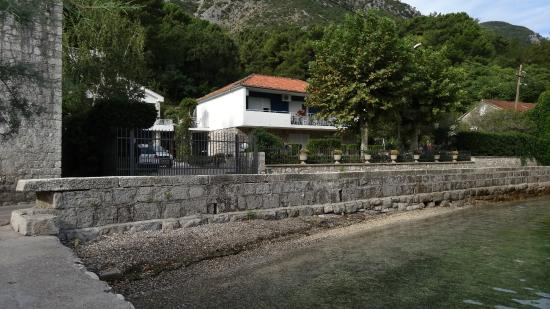 View of the house from the sea side