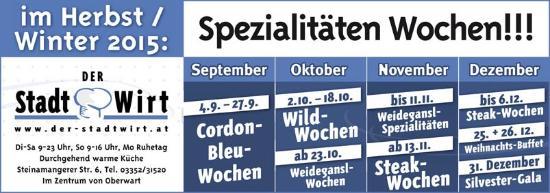 Oberwart, Oostenrijk: Spezialitätenwochen !