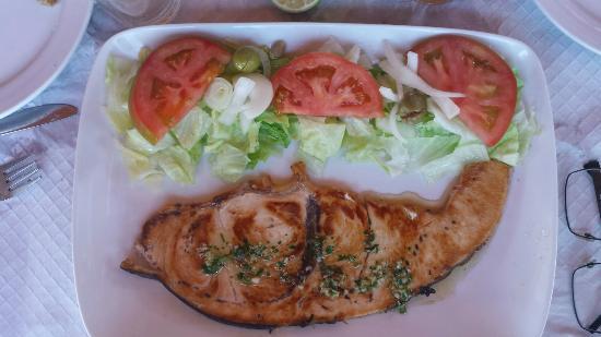 Pez espada a la plancha picture of merendero casa jose for Cocinar pez espada a la plancha