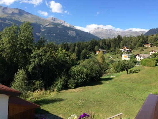 View from the balcony of Chalet des Alpes
