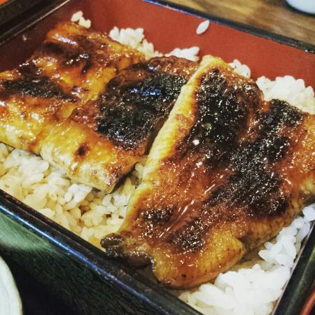 Furuhata: 鰻重と馬刺し