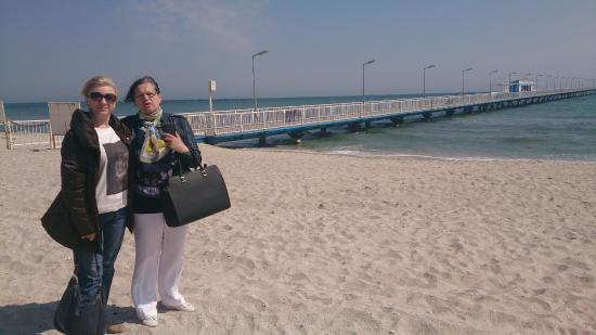 Constanta Beach: amazing colour of the sea in the spring time!