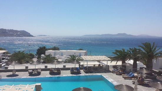 Manoulas Mykonos Beach Resort View From Our Hotel Room