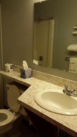 Eastland Motel: 2 bed large room, dog friendly, bathroom