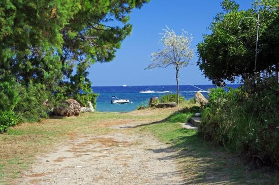Domaine de l'Avidanella : Zugang zum Strand von Avidanella, ruhiger Strand!