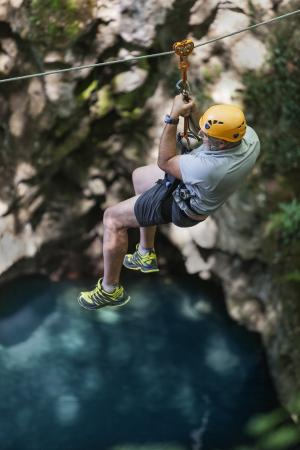 The Blue Lagoon Zip Line - Picture of Canyon Park, Bagni di Lucca ...